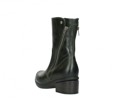 wolky mid calf boots 01376 rialto 30732 forestgreen leather_5