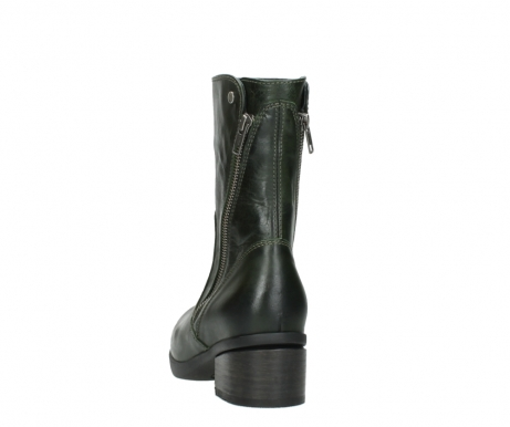 wolky mid calf boots 01376 rialto 30732 forestgreen leather_6