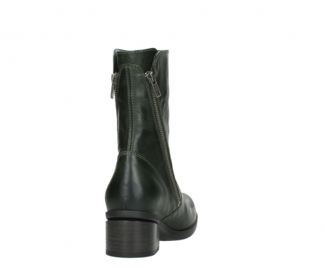 wolky mid calf boots 01376 rialto 30732 forestgreen leather_8