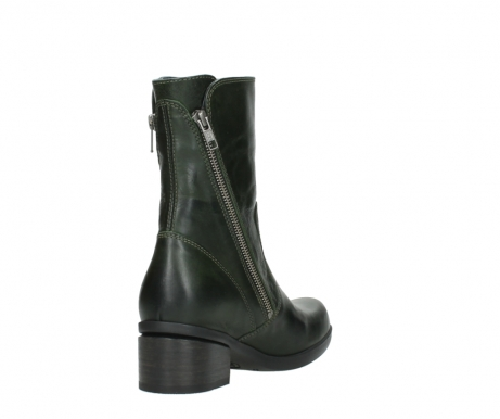 wolky mid calf boots 01376 rialto 30732 forestgreen leather_9
