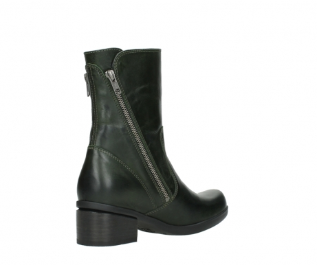 wolky mid calf boots 01376 rialto 30732 forestgreen leather_10