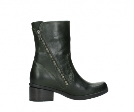 wolky mid calf boots 01376 rialto 30732 forestgreen leather_12