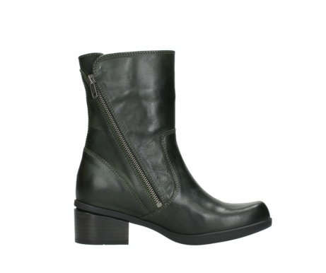 wolky mid calf boots 01376 rialto 30732 forestgreen leather_13