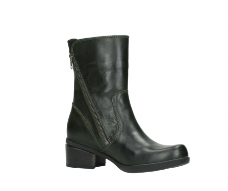 wolky mid calf boots 01376 rialto 30732 forestgreen leather_15