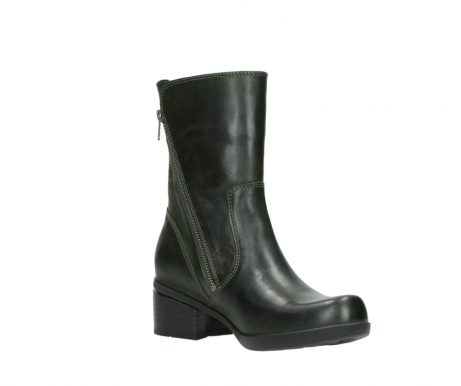 wolky mid calf boots 01376 rialto 30732 forestgreen leather_16