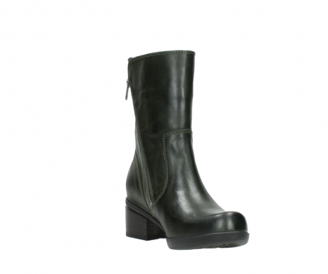 wolky mid calf boots 01376 rialto 30732 forestgreen leather_17
