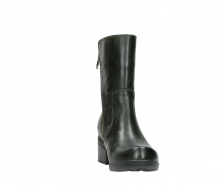 wolky mid calf boots 01376 rialto 30732 forestgreen leather_18