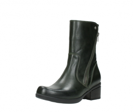 wolky mid calf boots 01376 rialto 30732 forestgreen leather_22