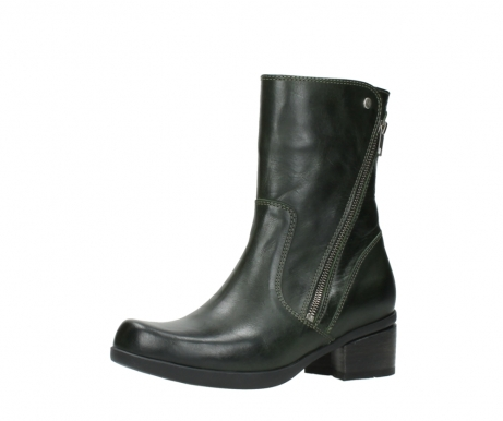 wolky mid calf boots 01376 rialto 30732 forestgreen leather_23