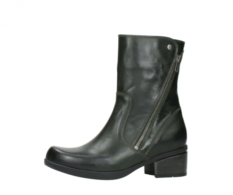 wolky mid calf boots 01376 rialto 30732 forestgreen leather_24