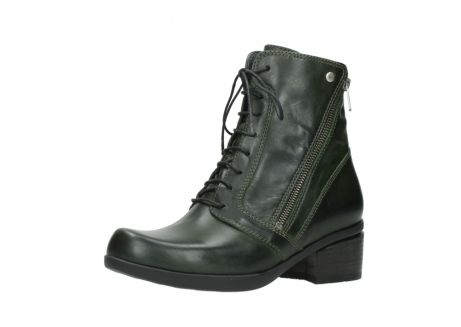 wolky bottines a lacets 01377 forth 30732 cuir vert_23