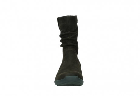 wolky mid calf boots 01572 luna 11302 brown nubuck_7