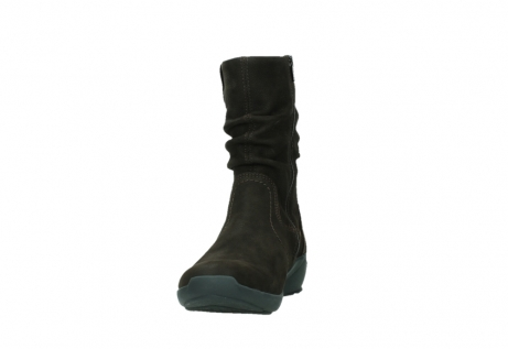 wolky mid calf boots 01572 luna 11302 brown nubuck_8