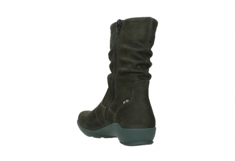 wolky mid calf boots 01572 luna 11302 brown nubuck_17