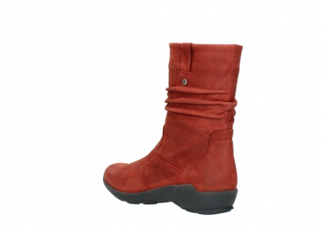 wolky mid calf boots 01572 luna 11542 winter red nubuck_4