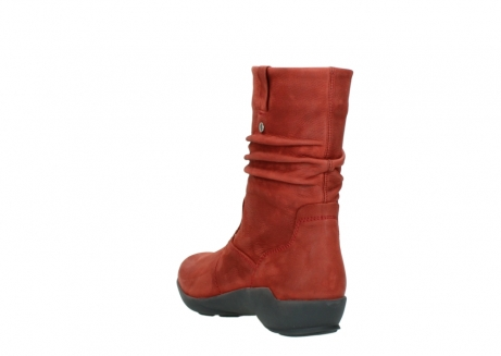wolky mid calf boots 01572 luna 11542 winter red nubuck_5