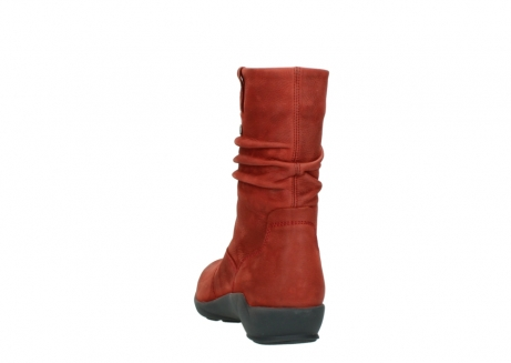 wolky mid calf boots 01572 luna 11542 winter red nubuck_6