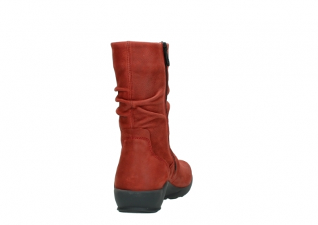 wolky mid calf boots 01572 luna 11542 winter red nubuck_8