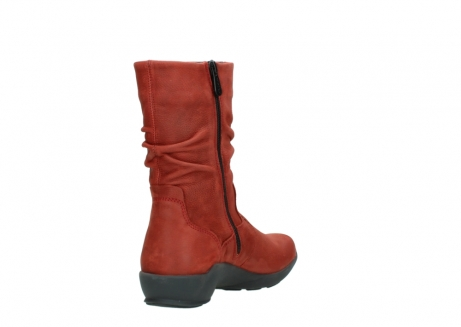 wolky mid calf boots 01572 luna 11542 winter red nubuck_9