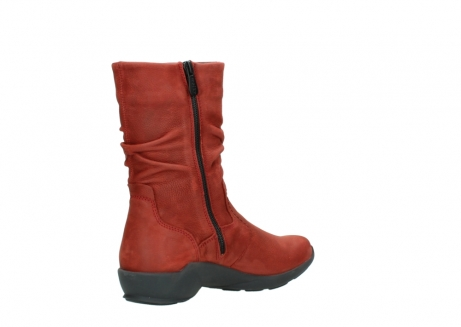 wolky mid calf boots 01572 luna 11542 winter red nubuck_10