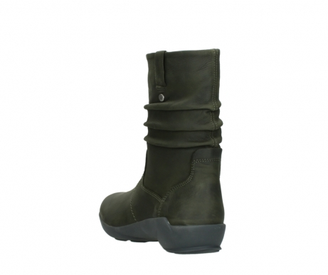 wolky mid calf boots 01572 luna 11732 forestgreen oiled nubuck_5