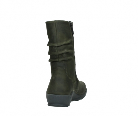 wolky mid calf boots 01572 luna 11732 forestgreen oiled nubuck_8