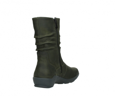 wolky mid calf boots 01572 luna 11732 forestgreen oiled nubuck_9