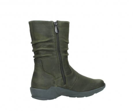 wolky mid calf boots 01572 luna 11732 forestgreen oiled nubuck_11