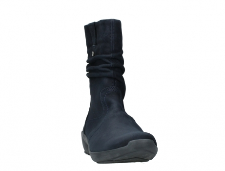 wolky mid calf boots 01572 luna 11802 blue oiled nubuck_6