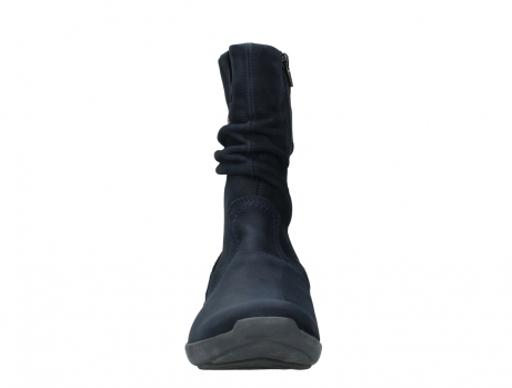 wolky mid calf boots 01572 luna 11802 blue oiled nubuck_7