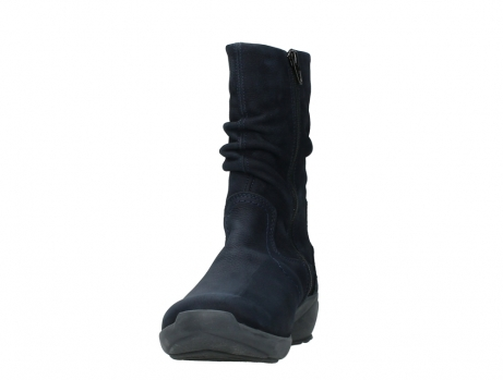 wolky mid calf boots 01572 luna 11802 blue oiled nubuck_8