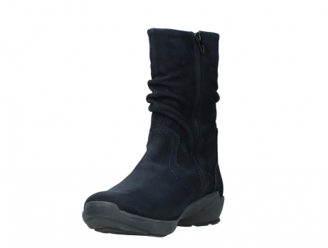 wolky mid calf boots 01572 luna 11802 blue oiled nubuck_9