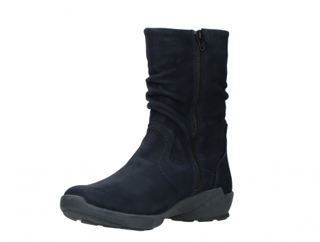 wolky mid calf boots 01572 luna 11802 blue oiled nubuck_10