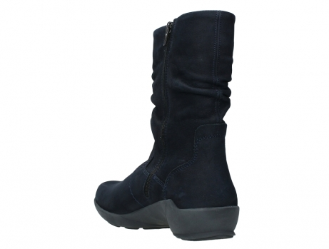 wolky mid calf boots 01572 luna 11802 blue oiled nubuck_17