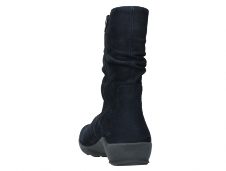 wolky mid calf boots 01572 luna 11802 blue oiled nubuck_18