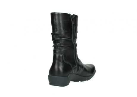 wolky mid calf boots 01572 luna 30001 black leather_9