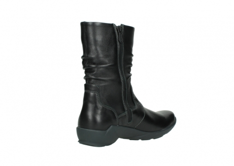 wolky mid calf boots 01572 luna 30001 black leather_10