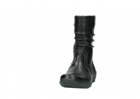 wolky mid calf boots 01572 luna 30001 black leather_20