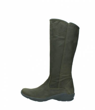 wolky high boots 01575 gelsa 11732 forestgreen oiled nubuck_1