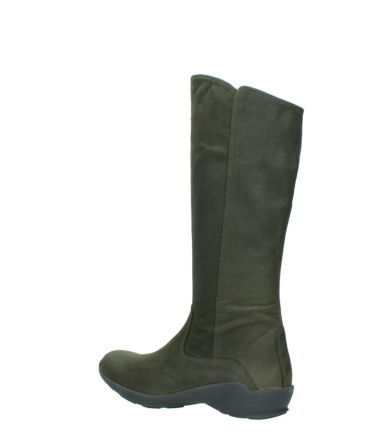 wolky high boots 01575 gelsa 11732 forestgreen oiled nubuck_3