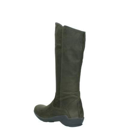 wolky high boots 01575 gelsa 11732 forestgreen oiled nubuck_4