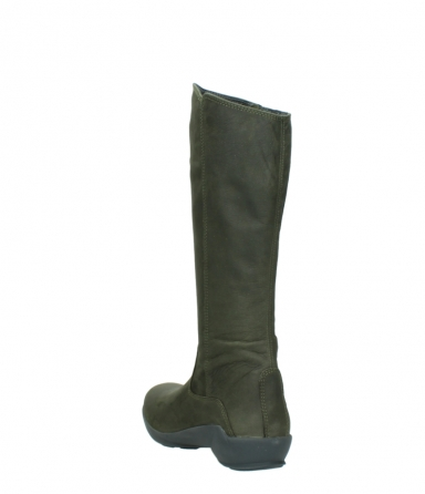 wolky high boots 01575 gelsa 11732 forestgreen oiled nubuck_5
