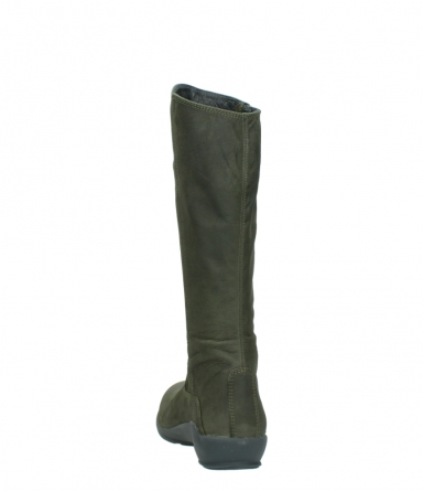 wolky high boots 01575 gelsa 11732 forestgreen oiled nubuck_6