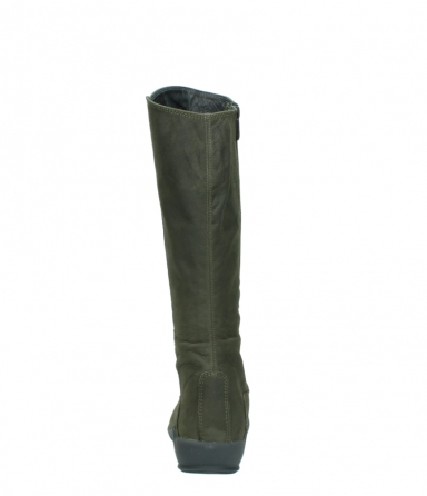 wolky high boots 01575 gelsa 11732 forestgreen oiled nubuck_7
