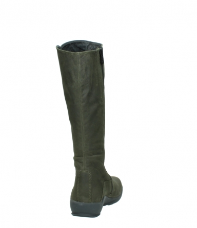 wolky long boots 01575 gelsa 11732 forestgreen oiled nubuck_8