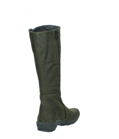 wolky high boots 01575 gelsa 11732 forestgreen oiled nubuck_9