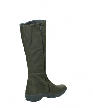 wolky high boots 01575 gelsa 11732 forestgreen oiled nubuck_10