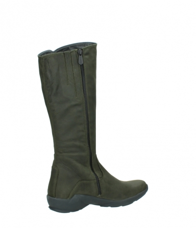 wolky high boots 01575 gelsa 11732 forestgreen oiled nubuck_11