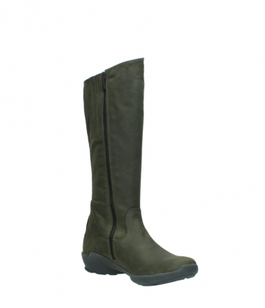 wolky high boots 01575 gelsa 11732 forestgreen oiled nubuck_16
