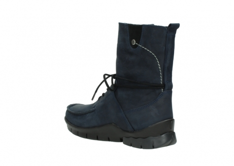 wolky lace up boots 01752 galina 11802 blue oiled nubuck_4